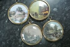 VINTAGE 4 x Old Master CAMEOS WALL PLAQUES THE MINIATURE WORLD OF PETER BATES