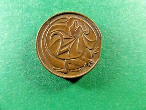AUSTRALIAN 1967 2 Cents Variety Clipped edge