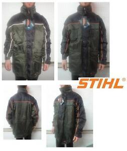 Anorak Jacke Waterproof Wasserdicht Woodman Motorsage Stihl Black XL