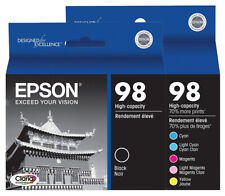Epson 98 T098 Ink 6-Pack GENUINE for Artisan 700 710 725 730 800 810 835 387