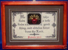 """Bible Verse Plaque""""He WhoFinds A Wife,Obtains Favor""""Wedding,Groom,Christian Gift"""