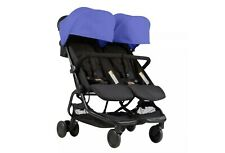Mountain Buggy Nano Duo Stroller - Nautical Lightweight Double Stroller Blue NEW