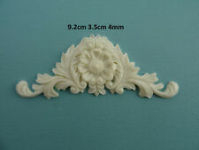 Decorative small flower center applique onlay resin furniture mouldings onlay Z1
