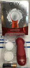 Olay Regenerist Face Cleansing Device Tool and 2 Brush Heads NEW OPEN BOX