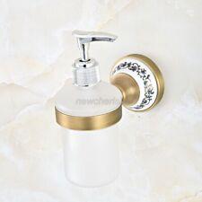 Kitchen Bathroom Accessory Antique Brass Porcelain Soap Dispenser nba814