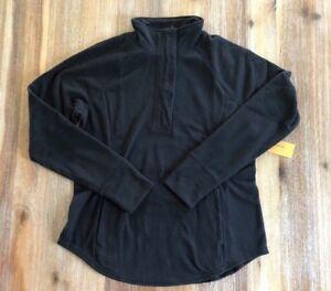 NWT Old Navy Women's 1/4 Zip Black Fleece Pullover Jacket - M, L, XL - Active