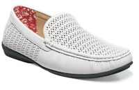 Stacy Adams Shoes Cicero Perfed Moc Toe Slip On White 25172-100