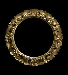 Baroque Style Florentine Giltwood Picture Frame - Hand Carved - Italy - C.1950's