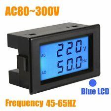 Ac Lcd Digital Volt Frequency Power Voltage Meter Monitor Voltmeter Ammeter 300v