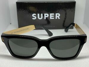 Retrosuperfuture 773 America Francis Black Gold Frame Size 50mm Sunglasses NIB