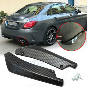For Mercedes Benz C CLA-Class Carbon Fiber Rear Bumper Diffuser Splitter Canards