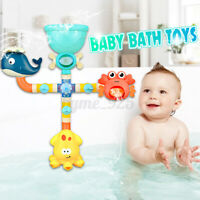 Suction Cup Baby Bath Toy Watering Spray Tool Shower Faucet Crab Octupus Whale