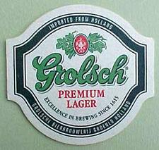 GROLSCH PREMIUM LAGER BEER COASTER, Mat, Groenlo, HOLLAND, NETHERLANDS 2004