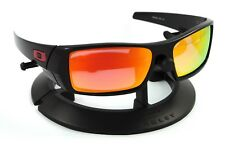 164617ebb1 OAKLEY GASCAN BLACK  RED ICONS  FRAME   REVANT FIRE RED POLARIZED CUSTOM  LENSES