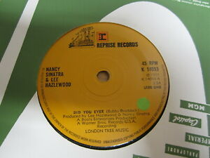 Single /  Nancy Sinatra & Lee Hazlewood ?– Did You Ever /  UK  PRESS / RAR /