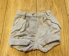 Monsoon Baby Shorts Girl Grey With Pockets Elasticated Waistline 6-12 Months