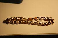 100% Genuine 9k Solid Yellow Gold Belcher Style Bracelet Parrot Clasp 20cm