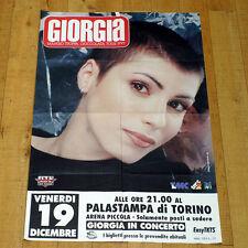 GIORGIA manifesto poster Mangio Troppa Cioccolata Tour Cantante Torino 1997 RTL