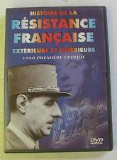 DVD HISTOIRE DE LA RESISTANCE FRANCAISE - 1940 PREMIERE EPOQUE
