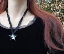 STELLA NERA COLLANA CRISTALLO SWAROVSKI CIONDOLO Dark Gotico STREGA WITCH gioielli