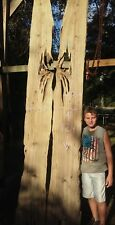 Bookmatched Old Growth Ancient Sinker Cypress Wood Slab Bartop Table Kiln Dried