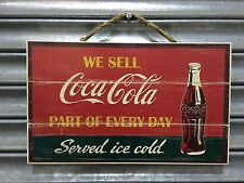 Vendiamo Coca-Cola Cartello in legno