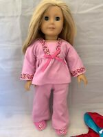 """American Girl Doll Julie Albright 18"""" with Extras Very Nice"""