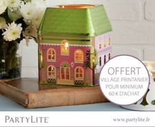 Partylite Spring Village 3-wick Jar Tin Candle Holder   P92765
