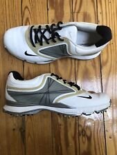 Nike Womens Wake Forest Golf Team Shoes Flywire Lunarlon 8.5 White