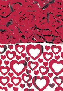 Hearts Shimmer Red Heart Wedding Table Confetti Foiletti Decoration 14-84g