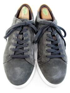 """NEW Allen Edmonds """"COURTSIDE"""" Men's Suede Sneakers 8.5 E Grey  (624)"""