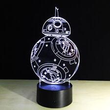 Night Light Luce Notturne Acrilico decorazione Star Wars BB-8 Lampada Christmas