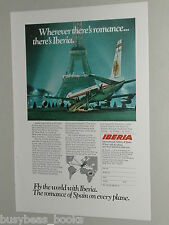 1970 Iberia Airlines ad, Spanish Airline, Eiffel Tower