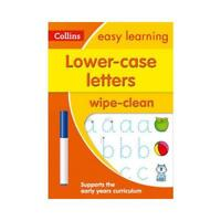Lower Case Letters Age 3-5 Wipe Clean Activity Book by Collins Easy Learning ...
