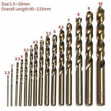 15 Stück HSS-Co Edelstahl Spiralbohrer Cobalt Stahl Bohrer Set 5% M35Cobalt