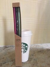 2017 New Colors Starbucks 3 Pack Reusable MUTLI-COLOR VENTI Cold Cup Straws Only