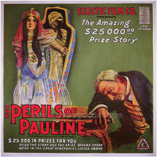 THE PERILS OF PAULINE Movie POSTER 27x40 B Pearl White Crane Wilbur Paul Panzer