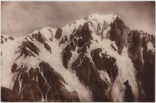 Cartolina Ghiacciaio Monte Bianco Courmayeur Floreale 75 cent per l'Austria 1928