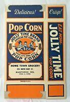 Jolly Time Popcorn Box Advertising Manitowoc Wisconsin Unused New Stock Vintage