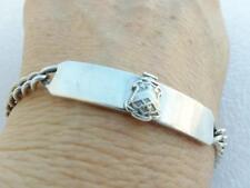 c1930 PI KAPPA PHI Antique Vtg Bracelet Crest STERLING SILVER Sweetheart Women's