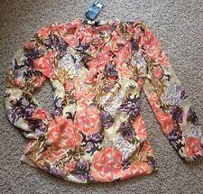 NWT!! Ralph Lauren Women's Floral Sheer Multicolor Blouse Size 1X BEAUTIFUL!