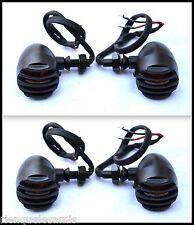 X2 Coppia di metallo Griglie indicatori di colore nero (per moto custom)