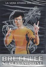 Dvd **BRUCE LEE SUPERCAMPIONE • LA VERA STORIA DEL MITO** nuovo sigillato 1980