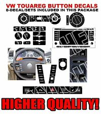 2004,2005,2006,2007,2008,2009 VW TOUAREG BUTTON DECAL REPAIR SET