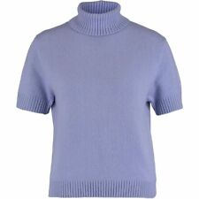 ERIC BOMPARD Ladies Luxurious Lavender Cashmere Turtleneck - size XL - rrp £126