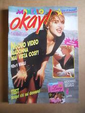 IL MONELLO OKAY ! n°41 1989 MADONNA - Fotoromanzo MARCO BELLAVIA [G420]
