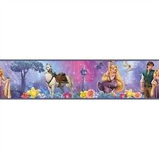 DISNEY TANGLED WALLPAPER BORDER self stick room decor horse prince RAPUNZEL
