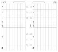 Filofax Personal Size Finances Notepaper Refill Organiser Insert 130618