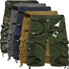5 Colors Men Summer Army Camo Camouflage Work Cargo Shorts Pants Trousers Slacks