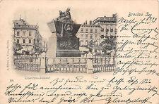 AK Breslau Tauentzien-Denkmal Postkarte 1899